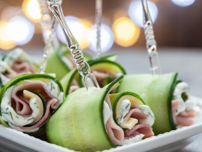 Ham and Cheese Cucumber Rolls