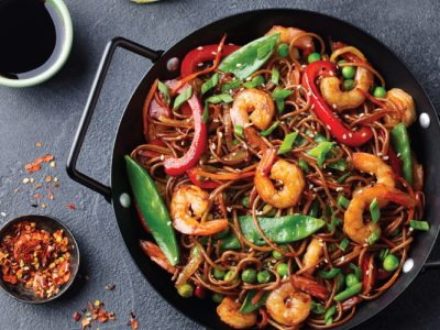 Honey & Garlic Prawn Stirfry