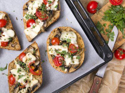 Tomato & Mushroom Crostini